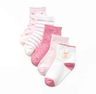 Custom Candy Color Cotton Baby Girl Socks