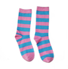 Customized Stripe Women Bamboo Dress Socks