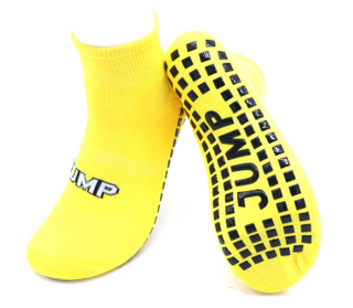 Custom Anti Slip Cotton Kids Trampoline Socks