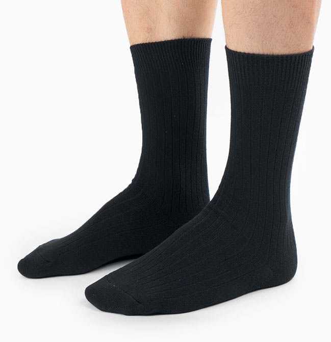 Custom Black Men Cotton Business Socks