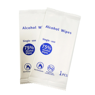 Antibacterial Hand Wipes Individually Wrapped with Alcohol
