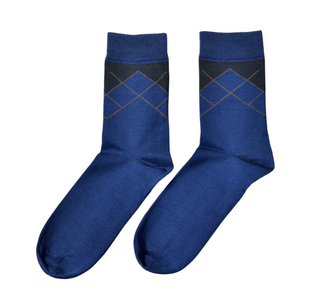 Custom Mercerized Cotton Men Business Socks