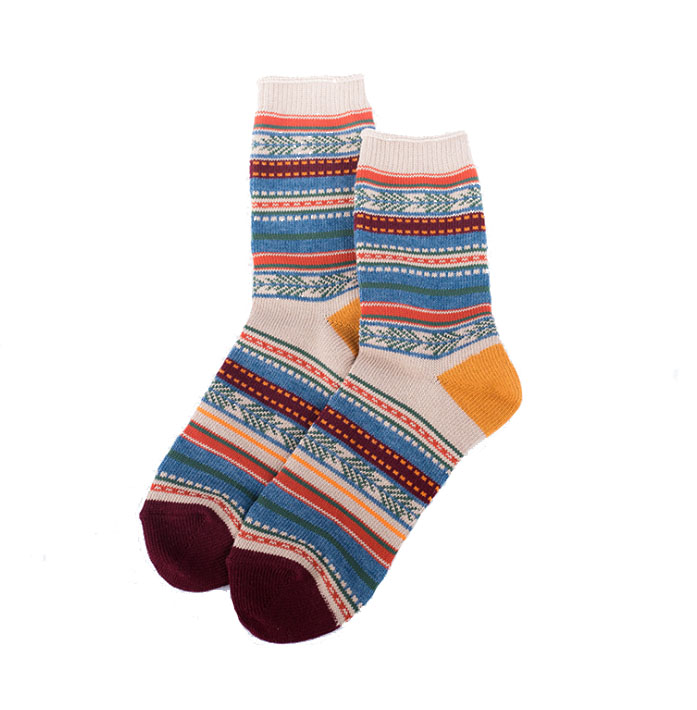 Custom Cable Knit Nordic Women Cotton Ankle Socks