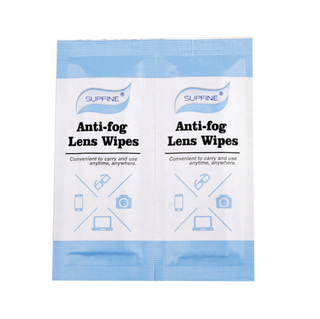 Disposable Anti Fog Optical Eye Glasses Cleaning Wet Wipes