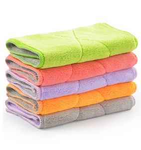 Thick Ultra Absorbent Double Side Microfiber Kitchen Dish Cleaning Cloths Towel