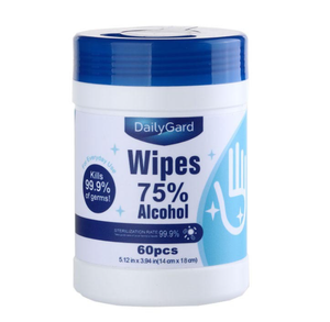 75% Alcohol Antibacterial Sanitizing Hand Wipes
