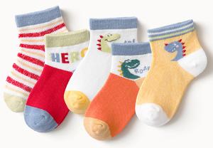 Dinosaur Carton Kids Boy Socks Cotton