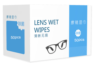 Isopropyl Alcohol Pre-moistened Anti Fog Eyeglasses Cleaning Wipes